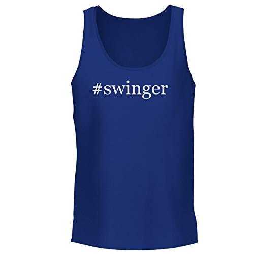 BH Cool Designs #Swinger - Men's Graphic Tank Top, Blue, X-Large