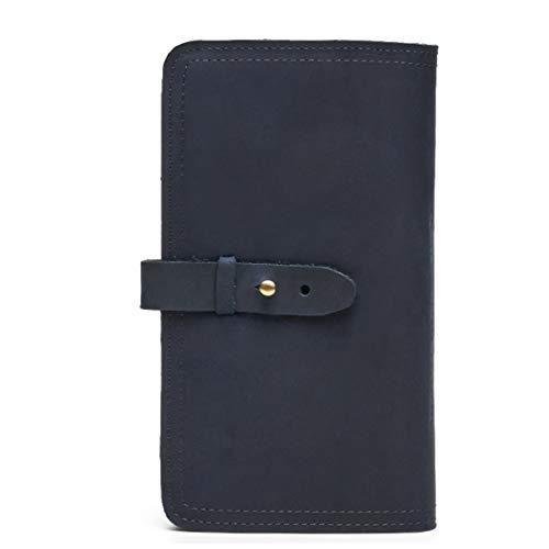 Case Aredovl color Blue Portefeuille Porte Blue Multifunction passeport Cuir Passport Vintage En gYpgqwZ