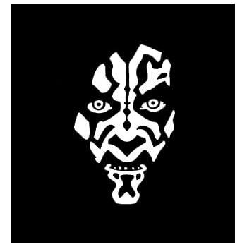 CCI Star Wars Darth Maul Face Decal Vinyl Sticker