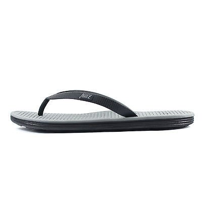 Nike Solarsoft Thong 2, Zapatillas de Deporte para Hombre Negro / Gris / Gris (Black / Cool Grey-Cool Grey)