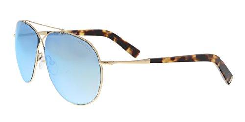 Tom Ford FT0374 28X Gold Eva Aviator Sunglasses Lens Category 2 Lens Mirrored ()