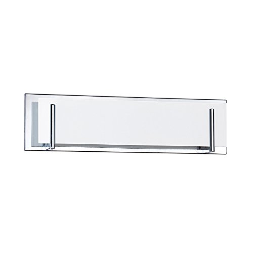 (Kendal Lighting VF2400WH-4L-CH Aurora 4-Light Vanity Fixture, Chrome Finish and White Glass)