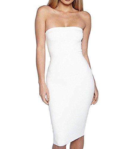 Coolred Party Bodice Pencil Back Women Sexy Corset White Bodycon Club Full Dress rr6qB