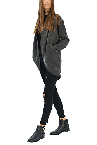 trueprodigy Casual Mujer Marca Sudadera Basico Ropa Retro Vintage Rock Vestir Moda Rebeca Manga Larga Slim Fit Designer Cool Urban Fashion Jacket Chaqueta ...