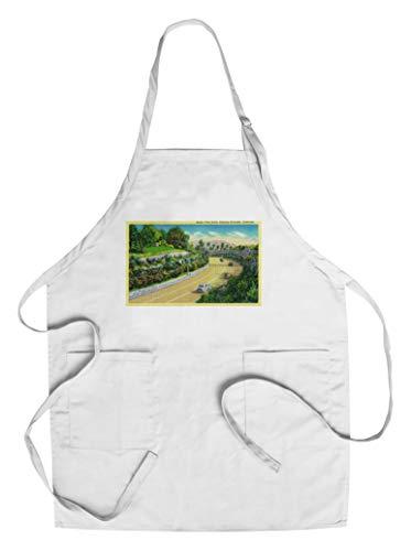 Buena Vista Drive, Entering Riverside (Cotton/Polyester Chef's Apron) (Vista Buena Drive)