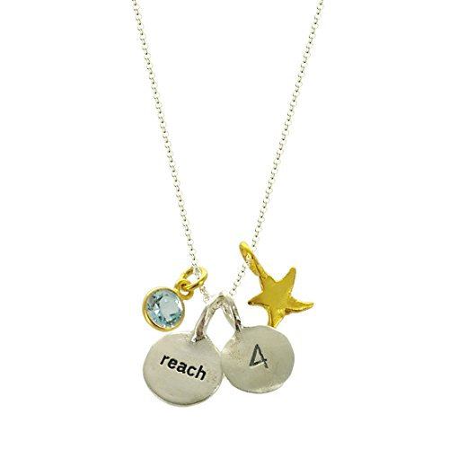 b.u. Reach for the Stars Sterling Silver Charm Necklace 16-18