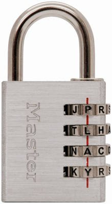 Master Lock 643DWD Aluminum Alpha Luggage Lock - Quantity 4 ()