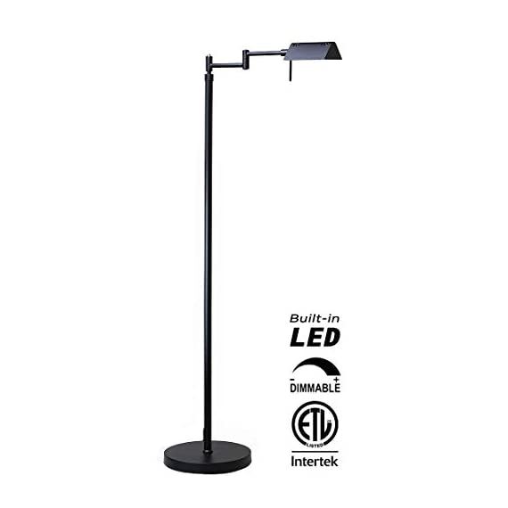 O'Bright Dimmable LED Pharmacy Floor Lamp, 12W LED, All Range Dimming, 360° Swing Arms, Adjustable Heights, Standing… - ✔️ ETL LISTED – O'Bright LED pharmacy floor lamp passes ETL Safety Standard Test and has ETL certification. ETL safety standard ensures you a safe product for daily use. ✔️ SUPER BRIGHT LED / ENERGY SAVER – The end-table floor lamp is built-in high efficient 10 Watts LEDs with approximately 50,000 hrs lifespan. You will never need to worry about replacing the light bulbs. The LEDs deliver Max.1050 Lumens of brightness (equal to 75W incandescent bulbs) which with ONLY 10 Watts power consumption, which saves you up to 80% of electricity bill, compared to halogen and incandescent lighting. ✔️ DIMMABLE / MEMORY FUNCTION - The LED reading lamp is built-in a smart dimmer switch with all range dimming and memory setting functions. Simply long press on the switch button to adjust the brightness and release the button when the light changes to your desired light level. You may dim the light to a soft setting for mood light or reading. Or, you can also change it to a high-level setting when you need a brighter light for craft works or sewing. The dimmer will always memorize your setting. - living-room-decor, living-room, floor-lamps - 31JYvcKGm8L. SS570  -