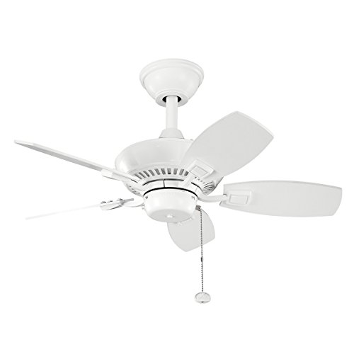 Kichler 300103WH, Canfield White Powder Coat 30 Outdoor Ceiling Fan