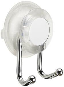 silberfarben Croydex Press N Lock Plus Doppelhaken f/ür Badem/äntel