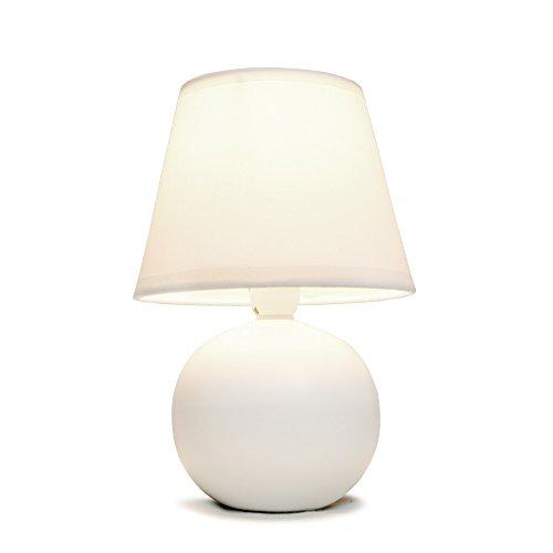 Simple Designs LT2008-OFF Mini Ceramic Globe Table Lamp, Off White