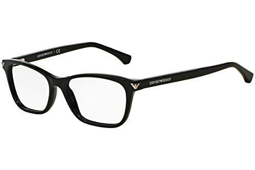 - Armani EA3073 Eyeglass Frames 5017-52 - Black EA3073-5017-52
