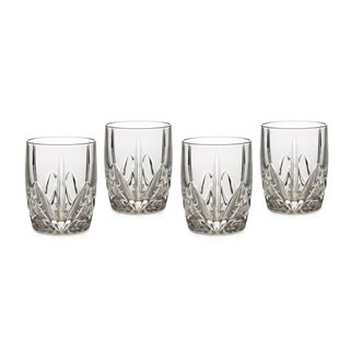 Marquis by Waterford Brookside 12-Ounce Double Old Fashion Glasses Set of 4 (Waterford Crystal Old Fashioned Glass)