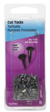 Hillman Carpet Tacks No. 2 Blued Card 1.75 Oz