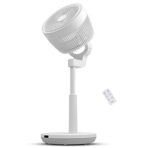 (Air Circulator Fan, 3D Oscillating Pedestal Fan with 3 Modes, 4 Variable Speed Control, 7h Timer, LED Light Display, Adjustable Height and Free Installation)