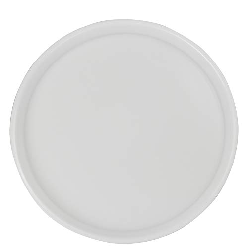 - Saedy White Plastic Fast Food Trays, Round Serving Trays(4 Packs)