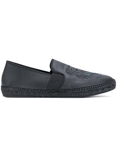 Kenzo Men's F855ES188L7099 Black Leather Espadrilles lSEWD