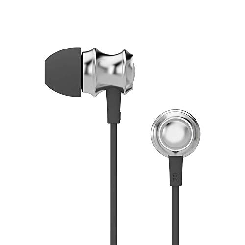 Festnight UiiSii US60 Metal in-Ear Earphone Stereo Headphones DJ Music Headset with Mic Noise Reduction for Mobile Phone MP3 PC