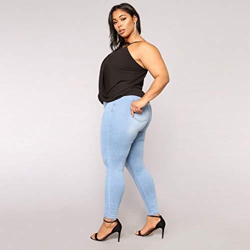 Taille ITISME en Stretch pour Femme Haute Skinny Hiver et Haute Denim Bleu B Pantalon Taille Jeanshosen Automne Stretch 7FWwqr78n
