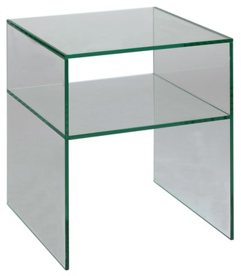 Glass bedside table clear amazon kitchen home glass bedside table clear watchthetrailerfo