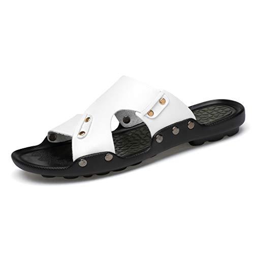 antidérapantes White Blancs Confortables Plage extérieures Chaussures Pantoufles extérieurs de antidérapantes d'hommes d'été HZH antidérapants de w6qCHFI