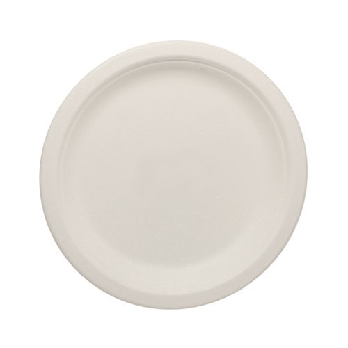 Durable-Eco-Friendly-7-Bagasse-Plates-Pack-of-Round-White-Plates-Microwave-Safe-Compostable-Made-from-Sugercane-Fibers