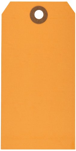 Tags Orange Shipping - Aviditi 13 Point Cardstock Shipping Tag, 4-3/4