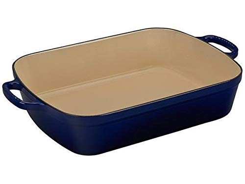 Le Creuset Signature Indigo Enameled Cast Iron 7 Quart Rectangular Roaster ()