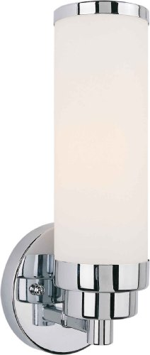 Forte Lighting 5064-01-05 Wall Sconce with Satin Opal Glass Shades, Chrome