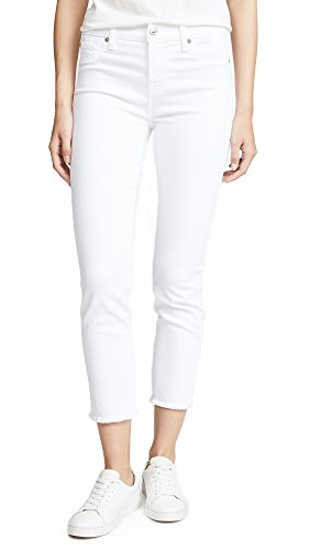 7 For All Mankind Women's Roxanne Ankle Jean, White Fashion, (7 For All Mankind Jeans Roxanne)