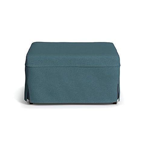 Handy Living Folding Ottoman Sleeper Bed, Caribbean Blue, Twin (Twin Sleepers)