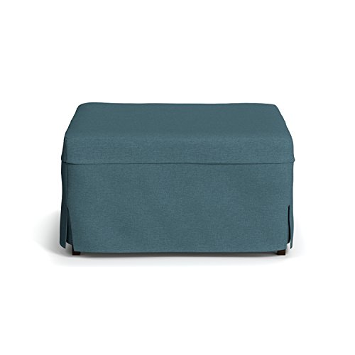 Handy Living Space Saving Folding Ottoman Sleeper Guest Bed, Caribbean Blue, Twin