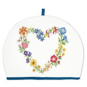 Alice's Cottage Floral Heart Wreath Cotton Tea Cozy Cosy