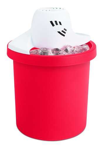 Rival 8704-RD 4-Quart Electric Ice Cream Maker, Red