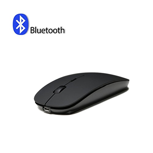ICFPWR Bluetooth Wireless Mouse, Slim Rechargeable 3 Adjustable CPI Level PC/Tablet/Laptop Windows/Mac/Linux, Silent & Smooth, Basic Design (Black)