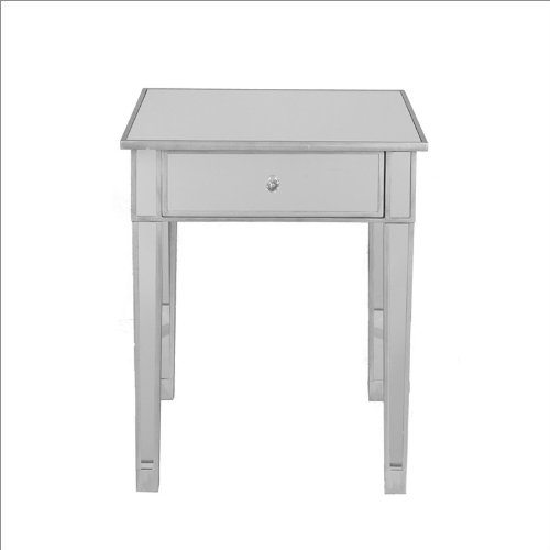 Southern Enterprises Aura Mirrored Accent Table