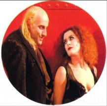 Horror Key (Magenta and Riff Raff Rocky Horror Sibling Love Keychain)