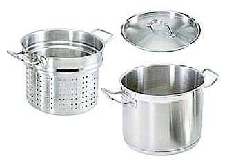 20 QT STAINLESS STEEL COMMERCIAL PASTA COOKER W/ LID by overstockedkitchen
