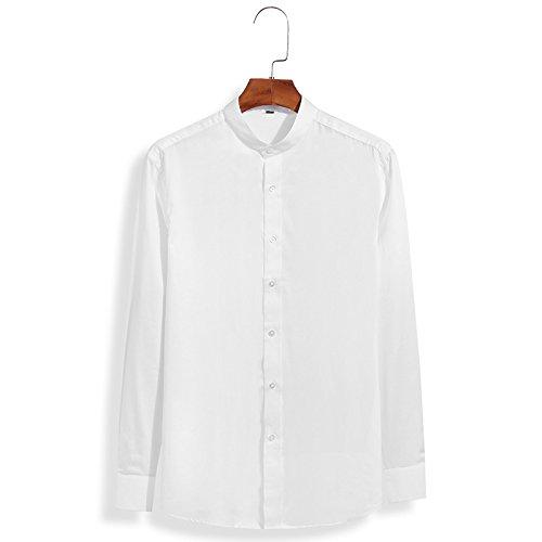 Männer Fashion Shirt mit Langen ärmeln männer Hemd Reparatur Fashion Shirt Kleidung,weiße,XXL