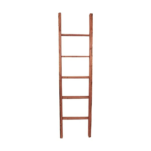 "Ekena Millwork DECR019X072X04LDRRD Decorative Ladder, 19"" W x 72"" H x 3 1/2"" D, Salvage Red"