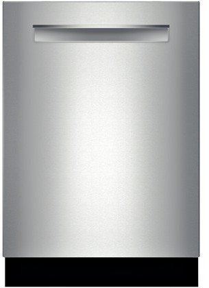 "Bosch SHP65TL5UC 500 Series 24"" Dishwasher with Flush Handle 16 Place Settings 44 dBA Sound RackMatic Delay Start Express Cycle Leak Protection InfoLight and Energy Star Rating in Stainless"