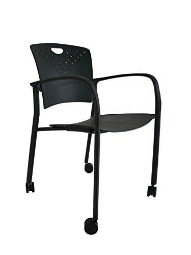 UPC 669245997058, Eurotech Seating Staq STAQ-GLIDE-BLK STAQCASBLK Guest Chair, Black
