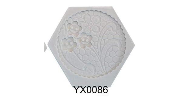 Amazon.com: Haga Pot Mold Clay New Flower Leaf Designer DIY Pot vase Decoration moldes para Cemento Clay Mold 3D Wall Panel Silicone Mold 2