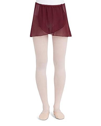 Capezio Adult Button Wrap Skirt Burgundy Adult Extra Large - Capezio Wrap Skirt