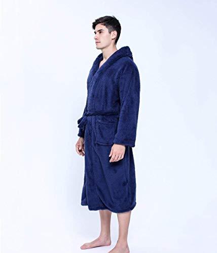 Outwear Delanteros Albornoz Manga Blau Grueso Bolsillos Camisas Con Color Caliente Terciopelo Estilo Larga Navy Camisones Sólido Mujer Especial Cinturón Z8dwSZ