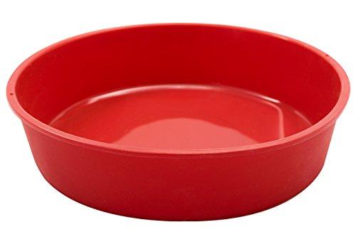 Marathon Housewares KW200014RD Premium Silicone Round Cake Pan, Red