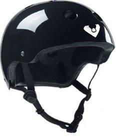 Viking Adjustable Size Bike & Skateboard Helmet (Black) (One Size Fits All Adjustable)