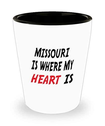 Fenton Glass Mug - White Ceramic Shot Glass Mug Custom Missouri Mug Going Away Gift State Mugs Moving Away State Gift Somebody My Heart Is,al0677