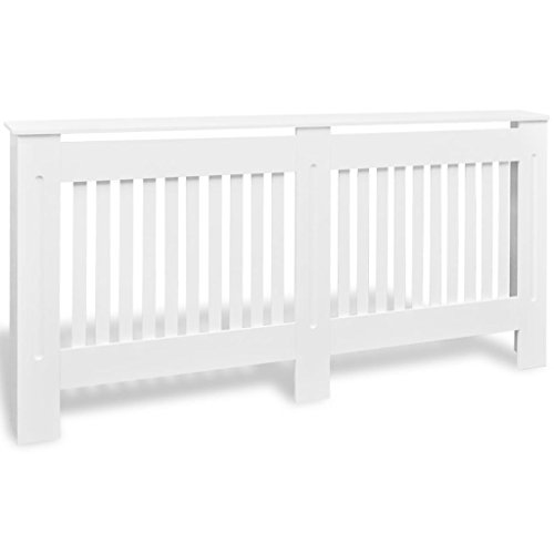 Tidyard 67.7Inches Radiator Cover White MDF Additional Shelf Space for Living Room Furniture Decor White by Tidyard (Image #2)