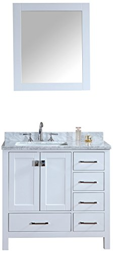 Ari Kitchen and Bath Akb-Bella-36-WH Vanity Set with Mirror, 36'', White by Ari Kitchen and Bath